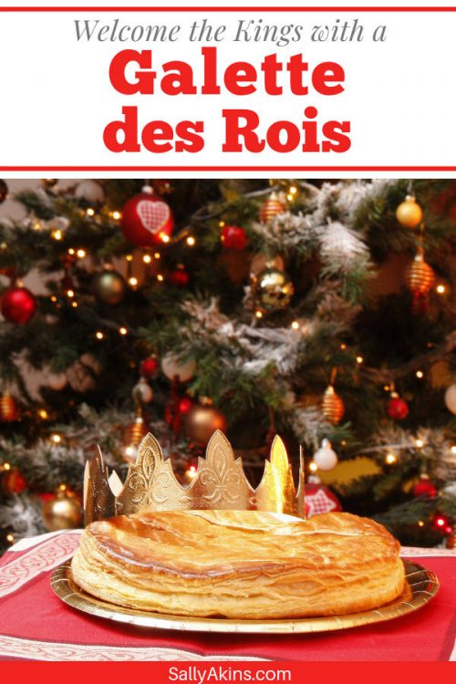 A pinnable image showing a traditional Galette des Rois