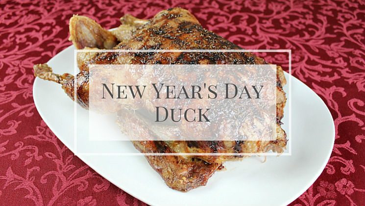 A delicious roast duck recipe that is perfect for a celebratory New Year's Day dinner