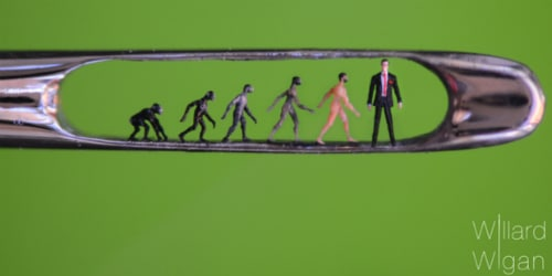 Evolution by Willard Wigan, Photo credit Richard Badderley