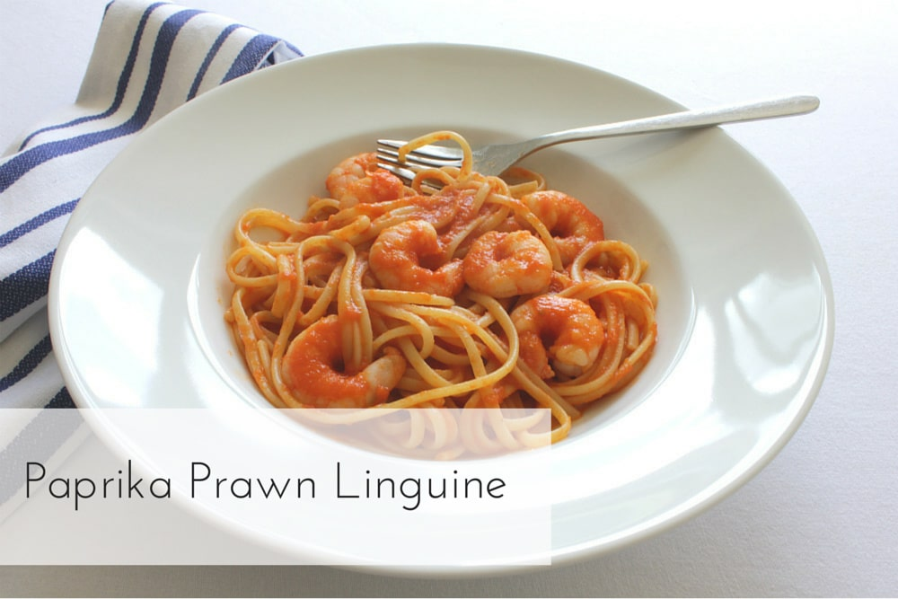 My dairy-free Paprika Prawn Linguine is quick and easy to prepare, combining the smokiness of paprika with the sweetness of prawns - delicious!