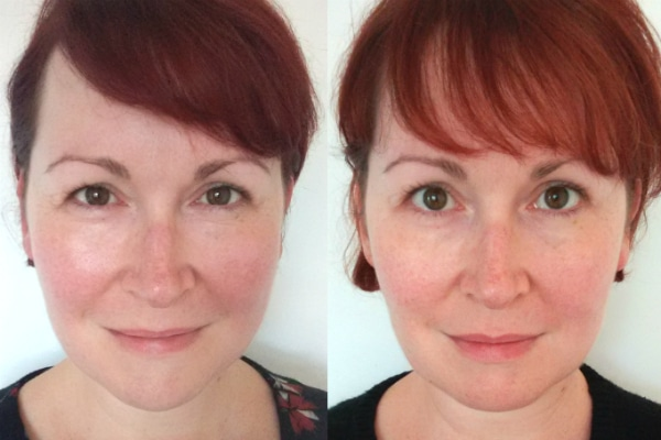 Photos before and after using the HoMedics Newa (sponsored post)