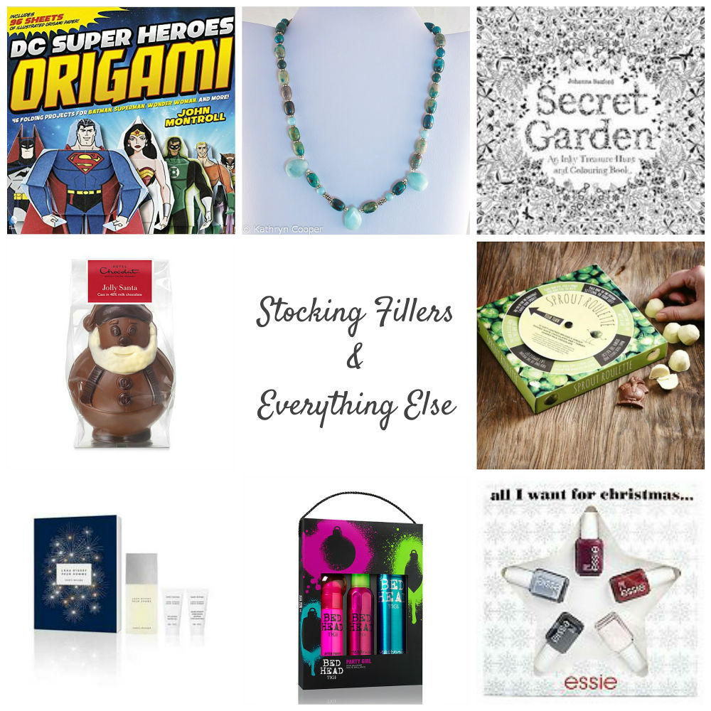My 2015 Gift Guide to Stocking Fillers & Everything Else includes jewellery, chocolates, perfume and all sorts of other Christmas present ideas