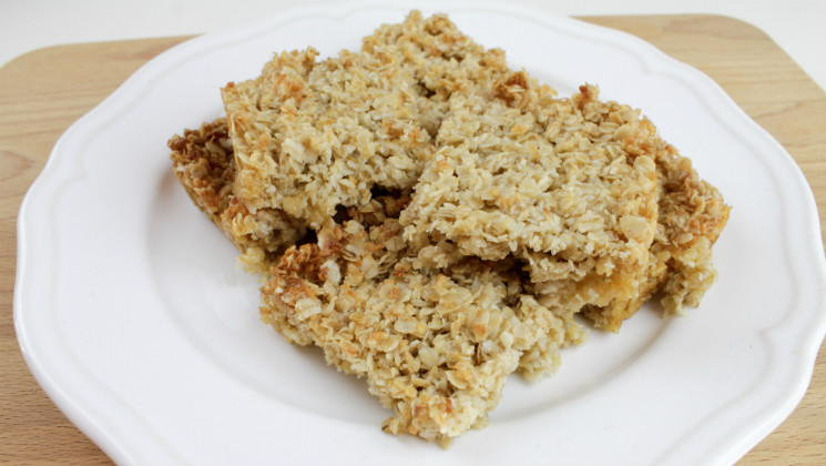 These Coconut Flapjacks are dairy-free, and oh so easy to make. And they taste delicious!