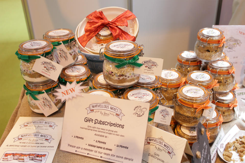 Gift subscriptions from Marvellous Mixes on display at the Good Food Show Summer at the NEC BIrmingham in June 2016