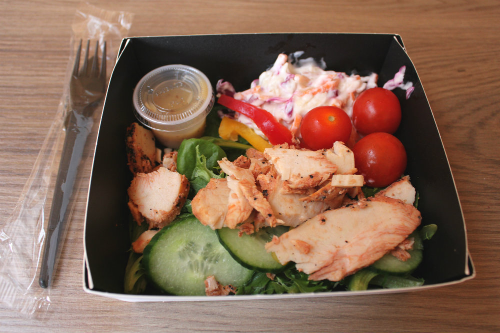 I put four salads to the Greggs Taste Test - this is the Greggs Chargrilled Chicken Salad