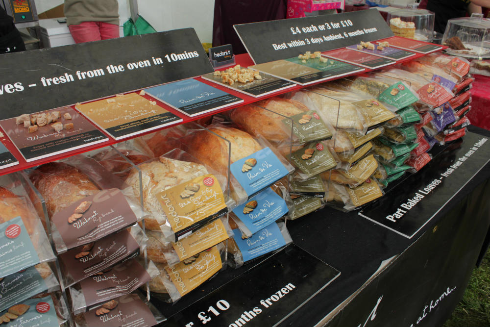 Delicious loaves on the Hedonist Bakery stand at the Shrewsbury Food Festival, June 2016