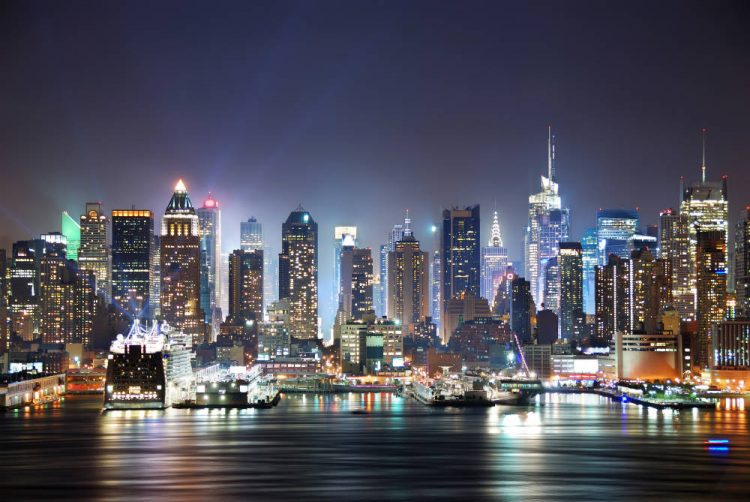 The New York skyline at night - one of my Dream Destinations