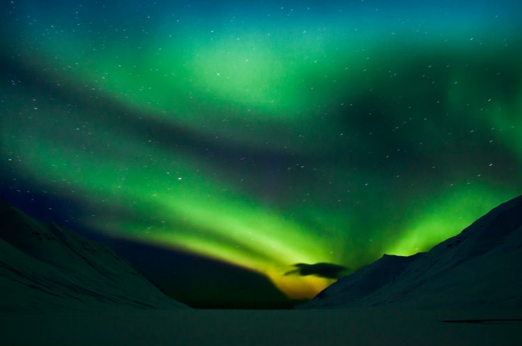 A sighting of the Northern Lights on a trip to Iceland, one of my travel dreams