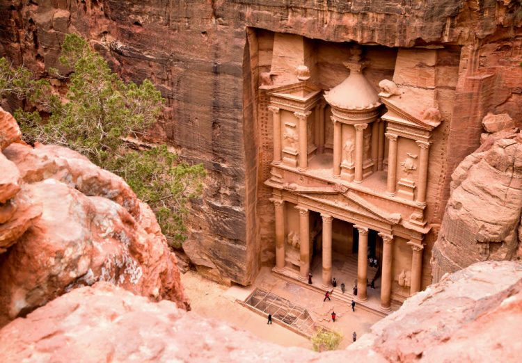 The rose-coloured Treasury building at Petra - one of my Dream Destinations for a very long time!