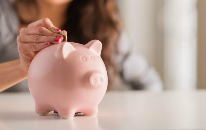 A piggy-bank or money box