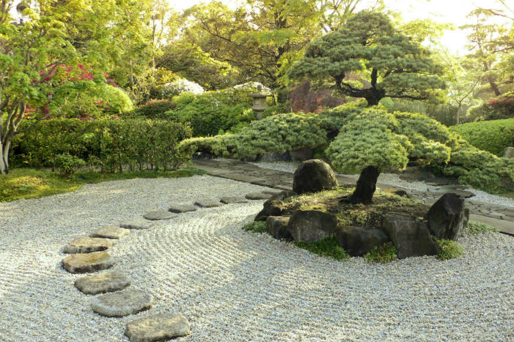 One of the many reasons for visiting Japan would be to see a zen garden like this one