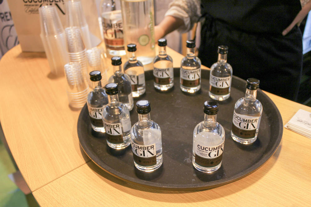 The Cucumber Gin stand at the BBC Good Food Show 2016