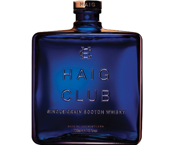 A bottle of Haig Club single grain scotch whisky