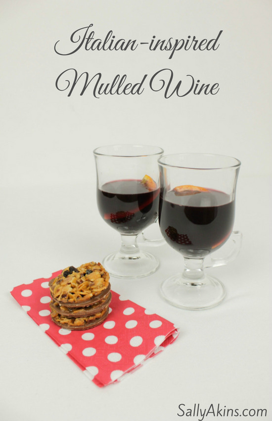 Christmas wouldn't be Christmas without a glass of mulled wine, and my italian-iinspired recipe is perfect with these Thomas J Fudge's Florentines #spons