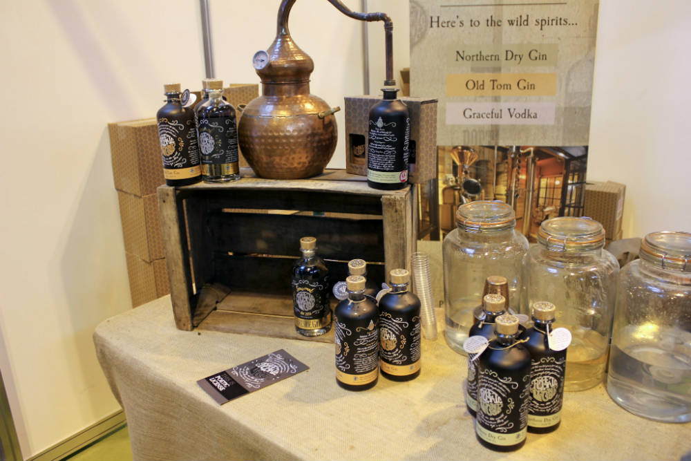 The Poetic Licence Distillery stand at the Good Food Show 2016