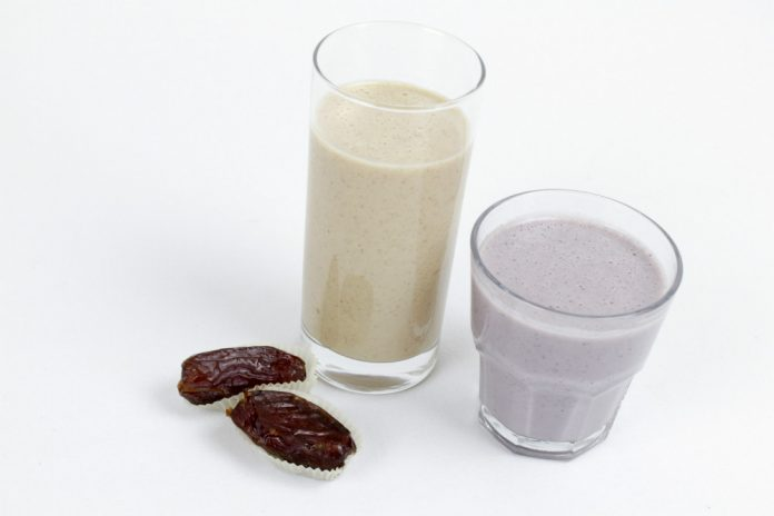 Sticky Toffee Pudding smoothie and Berry Delicious smoothie