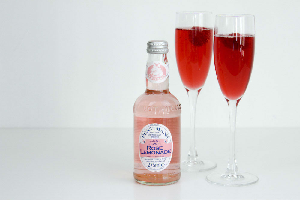 My Fentimans Rose Lemonade and Pomegranate Mocktail