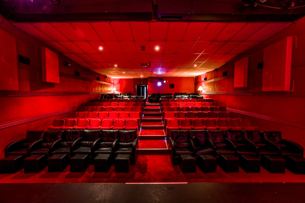The interior of the Electric Cinema in Birmingham, the UK's oldest working cinema