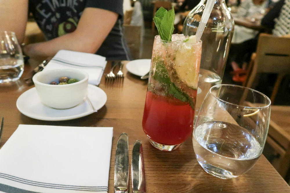 A Berry Mojito mocktail at Tom's Kitchen Birmingham #review