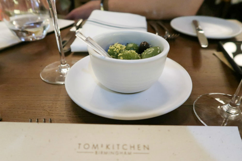 Delicious, lemony olives at Tom's Kitchen Birmingham #review