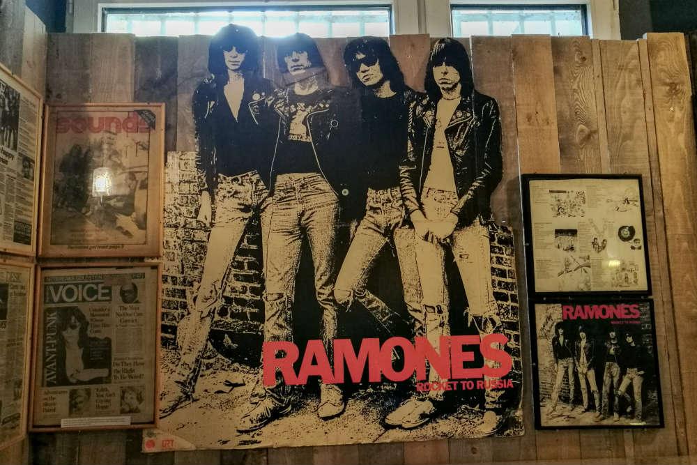An exhibit at the Ramones Museum in Berlin