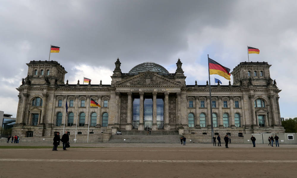 The Reichstag building (Bundestag) in Berlin