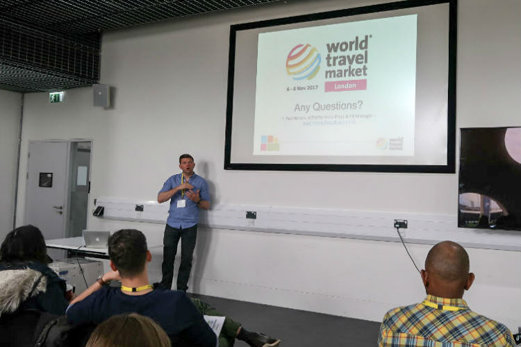 The World Travel Market presentation at the Traverse conference 2017. I attended the conference as a Blogger Ambassador for Three #sponsored
