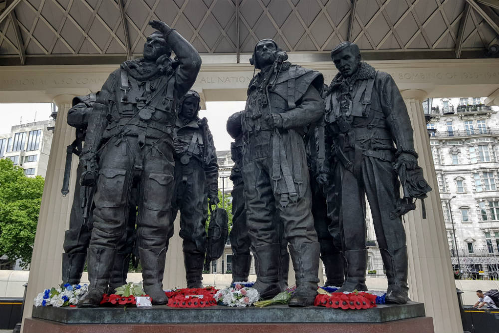 The RAF Bomber Command Memorial in Green Park, London