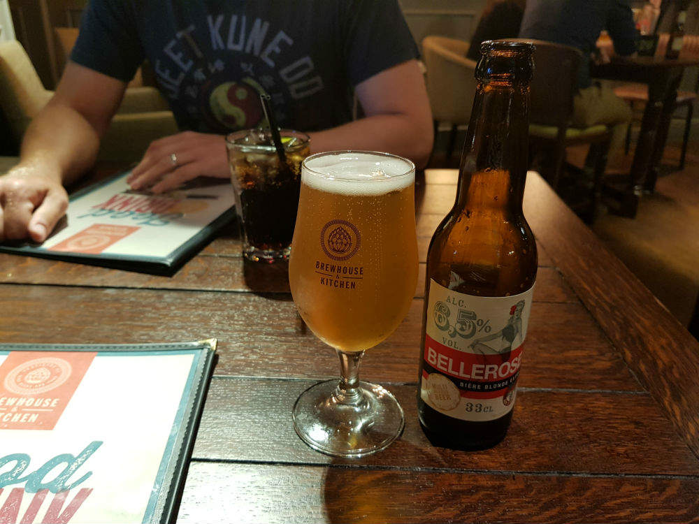 I really enjoyed this Belgian Bellerose lager, when I recently visited the Brewhouse and Kitchen in Lichfield #review