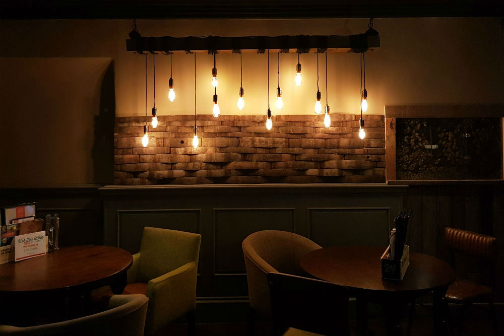 The quirky decor at the Brewhouse and Kitchen in Lichfield #review