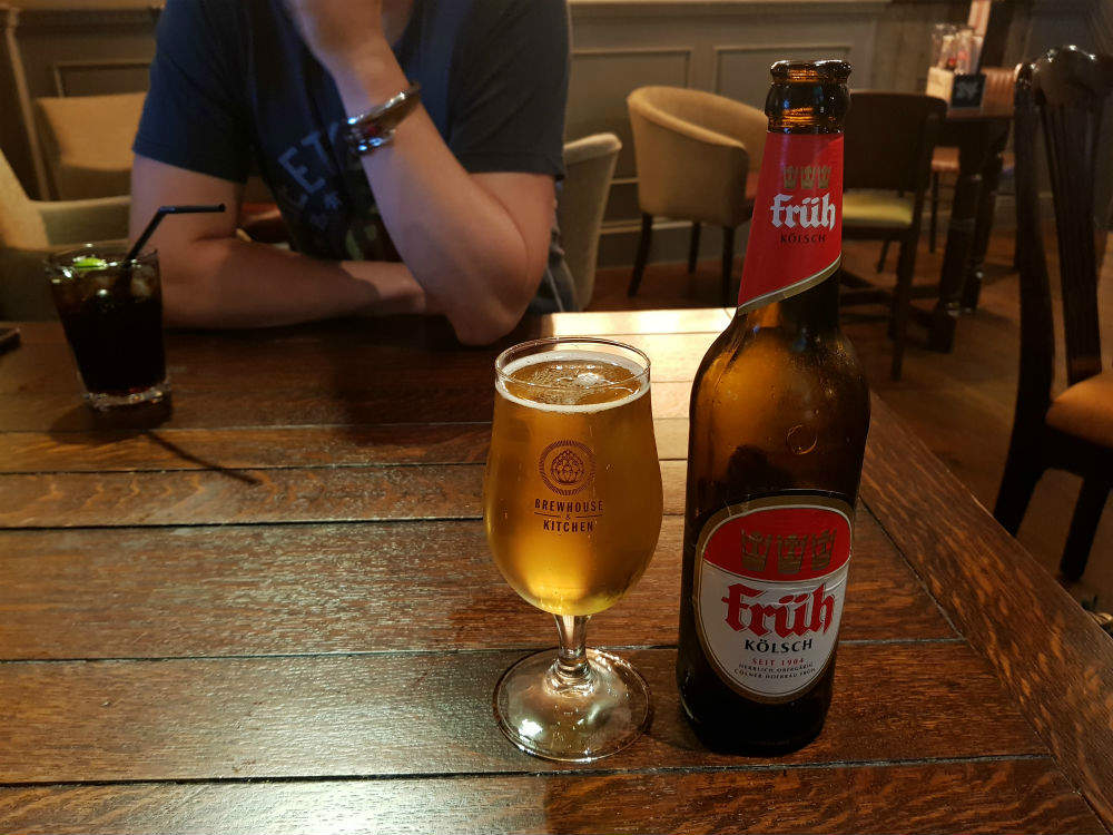 The second beer I chose at the Brewhouse and Kitchen in Lichfield was this Fruh Kolsch lager from Cologne. It has a crisp, dry, refreshing flavour #review