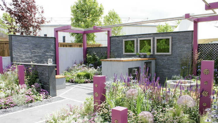 'The Bee and Butterfly Garden', one of the show gardens at Gardeners World Live 2017 at the NEC in Birmingham