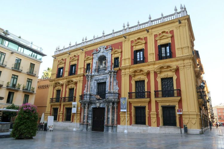 The stunning Episcopal Palace, next to the Cathedral in Malaga, Spain