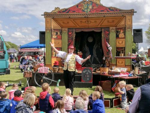 Mr Alexander's circus skills workshop at the RHS Malvern Spring Festival 2017
