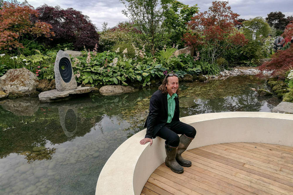 Peter Dowle, one of the designers of the Best in Show garden at the RHS Malvern Spring Festival 2017