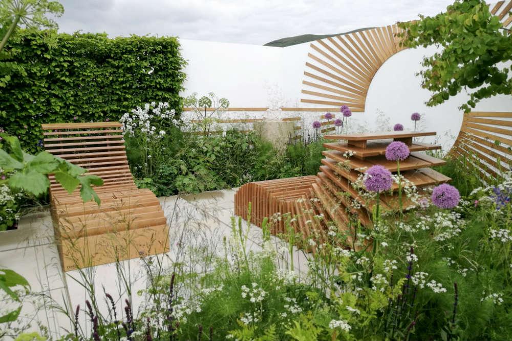 'The Molecular Garden' won a Gold Medal and Best Spa Garden at the RHS Malvern Spring Festival 2017