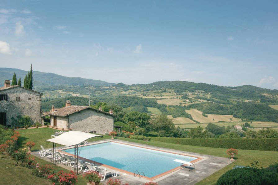 This villa in Dicomano is available to book through Clickstay, and is just 37km from the city of Florence in Italy