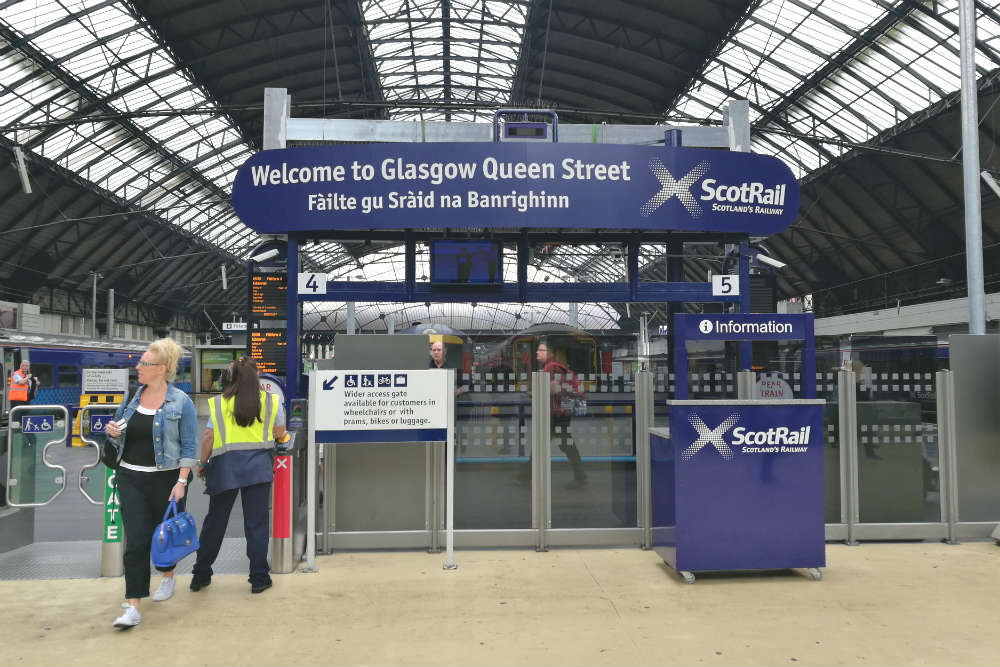 Queen Street Station in Glasgow