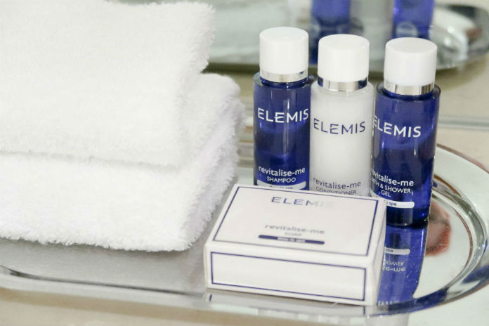 Complimentary Elemis toiletries, provided at the Apex City Quay Hotel & Spa in Dundee