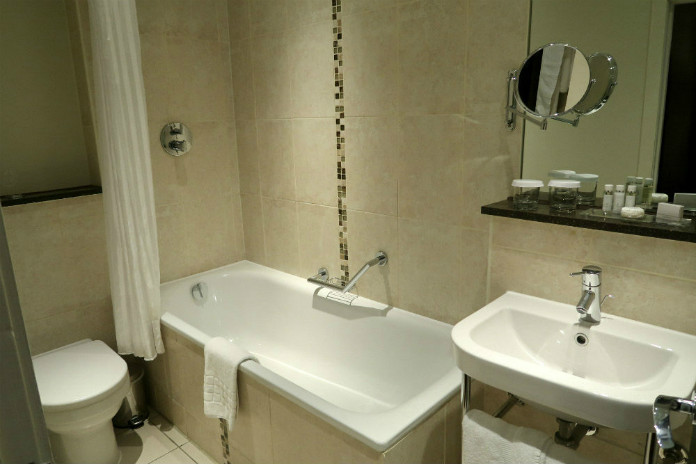 A classic design of bathroom at the Grand Central Hotel in Glasgow