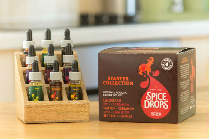 The Starter Collection from Spice Drops comes with its own display rack.