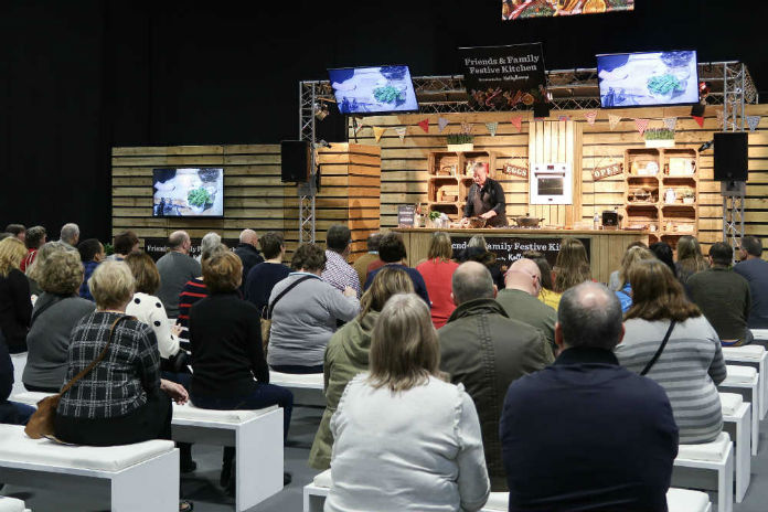 The Festive Kitchen at the BBC Good Food Show, at the Birmingham NEC, December 2017