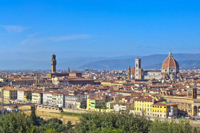 Skyline of Florence in Tuscany