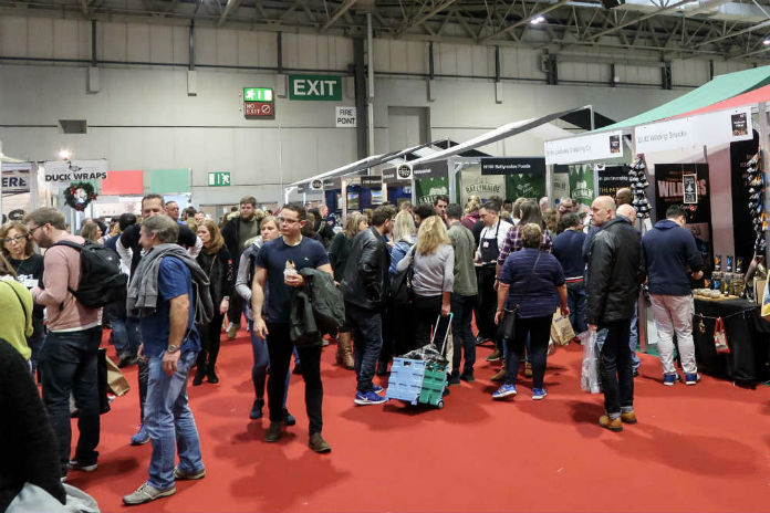 A busy crowd at the BBC Good Food Show, at the Birmingham NEC, December 2017