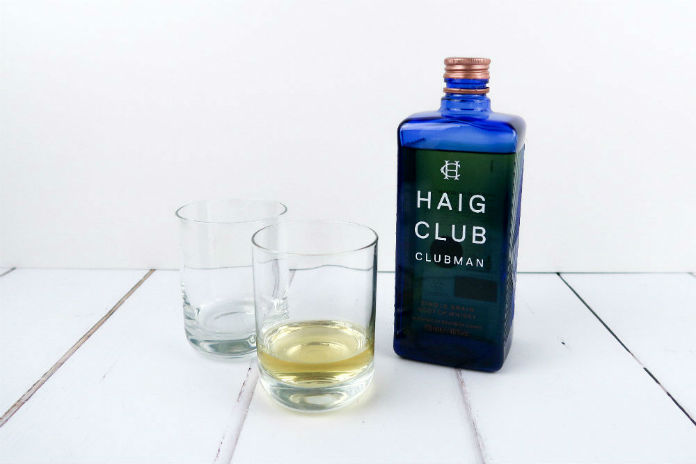Haig Club Clubman whiskey has a smooth taste with notes of vanilla and dried fruit.