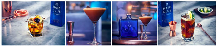 A selection of cocktails made using Haig Club whisky