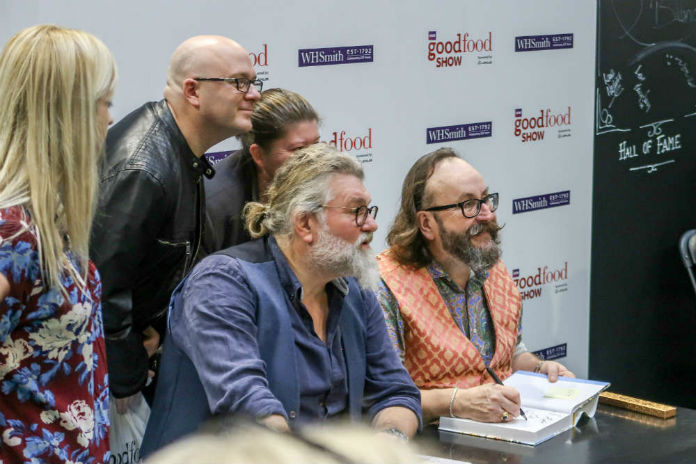 The Hairy Bikers at the BBC Good Food Show, at the Birmingham NEC, December 2017
