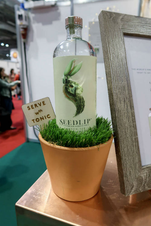Seedlip distilled non-alcoholic spirits at the BBC Good Food Show, at the Birmingham NEC, December 2017