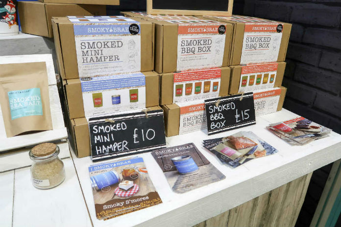 Smoky Brae hampers and kits at the BBC Good Food Show, at the Birmingham NEC, December 2017