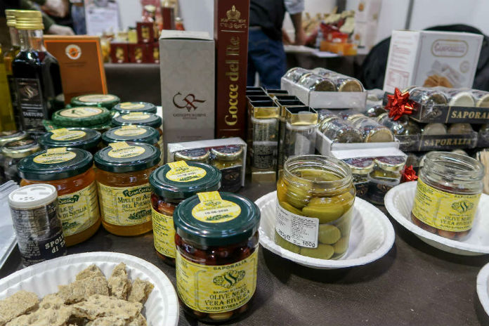 Truffle delicacies from Amar Foods at the BBC Good Food Show, at the Birmingham NEC, December 2017